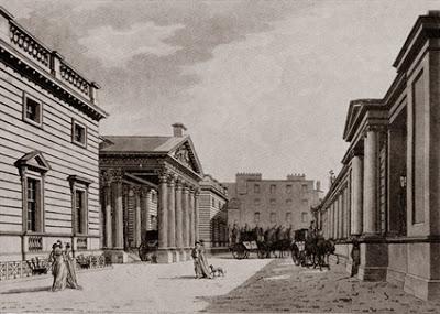 Carlton House Palace, engraving by R Malton, 1800