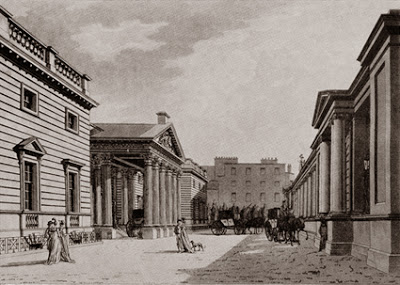 Carlton House Palace, engraving by R Malton, 1800