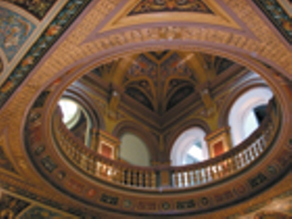 Dome interior of the Conservative Club