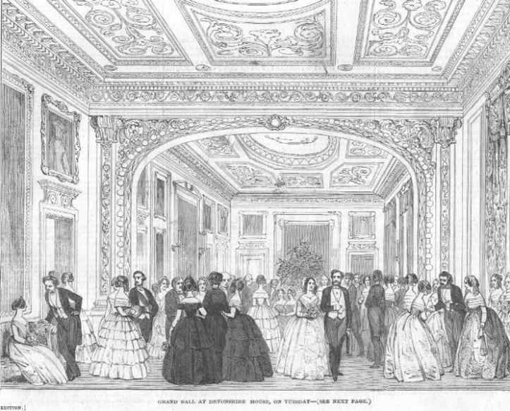 A Ball at Devonshire House, Illustrated London Newsm 1850