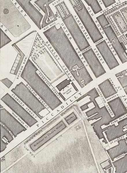 Devonshire House, John Roque's map of 1746
