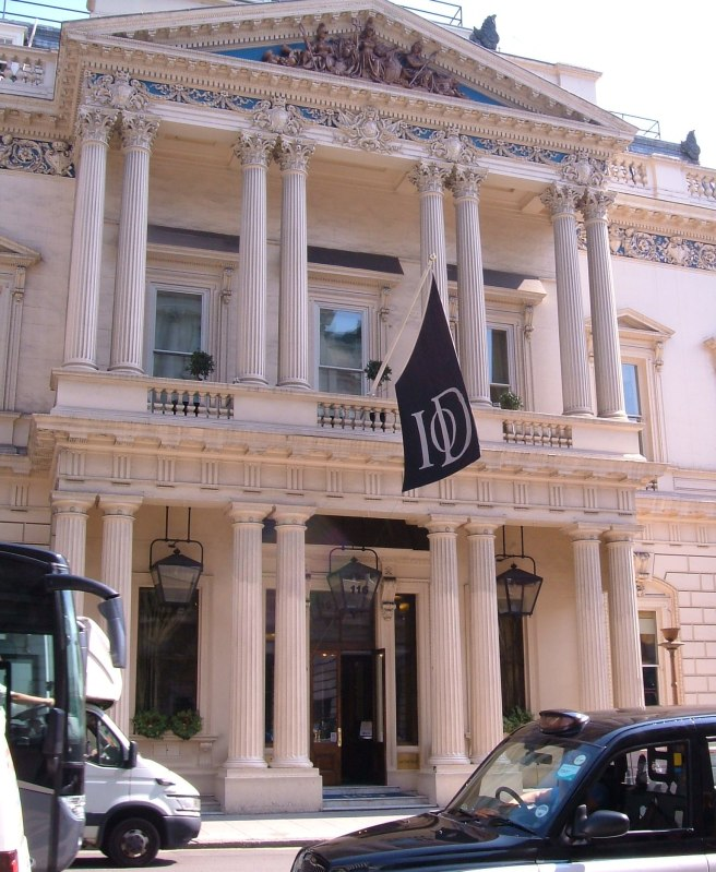 The United Services Club, now the IOD