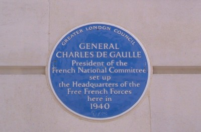 The base of the Free French at no.4 Carlton Gardens