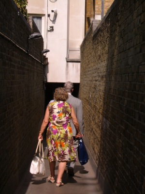 The passageway to St James's Place, under the buildings