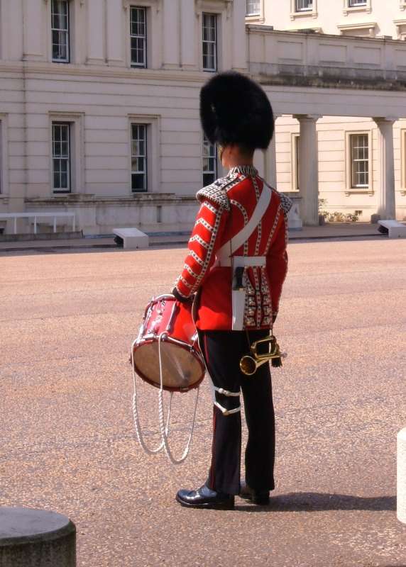 Drummer on parade