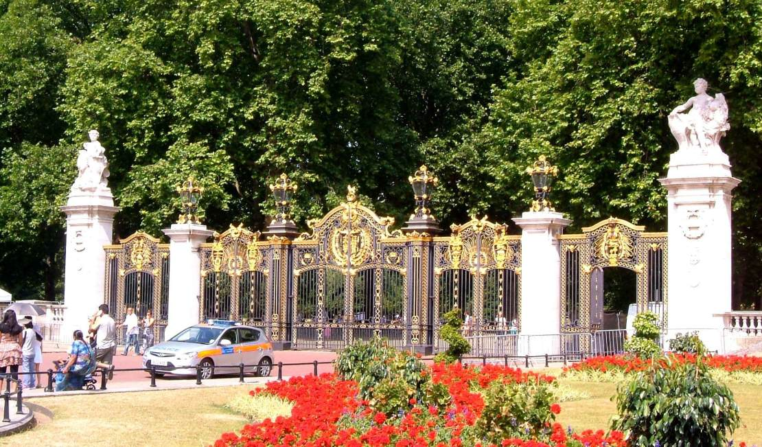 Canada Gate on the south side of the Park, near Buckingham Palace