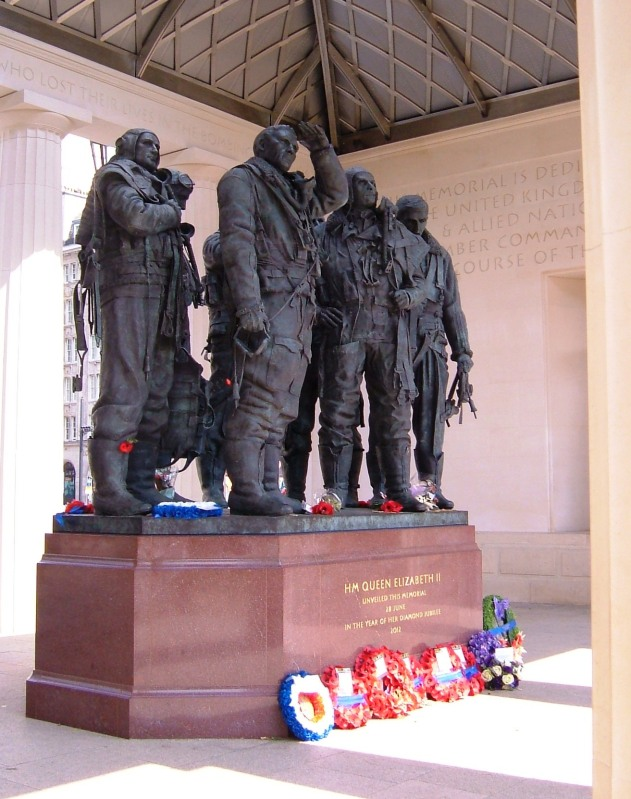 Inside the Bomber Command Memorial, Hyde Park Corner