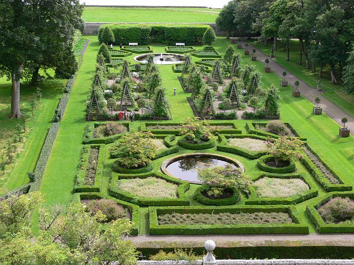 Dunrobin Castle gardens, laid out by Sir Charles Barry