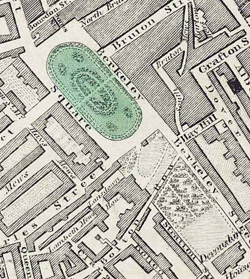 Lansdowne House, Greenwood's map of 1830