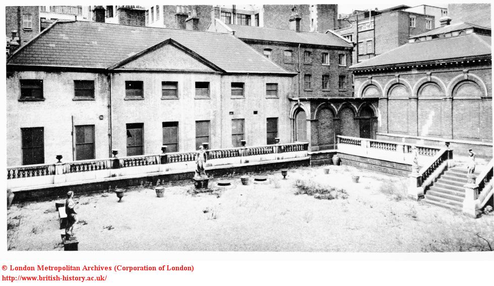No.5 St James's Square, Courtyard and Stables, demolished