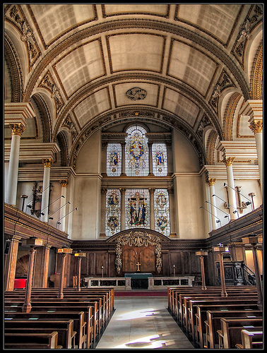 The interior of St James's Church, Piccadilly