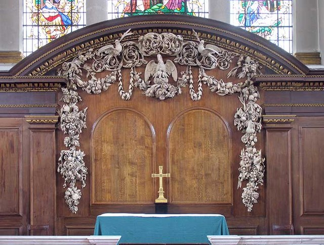 Reredos in St James's, Piccadilly, by Grinling Gibbons