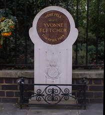 St James Square, Yvonne Fletcher memorial