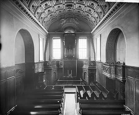 The interior of the Queen's Chapel, St James's Palace