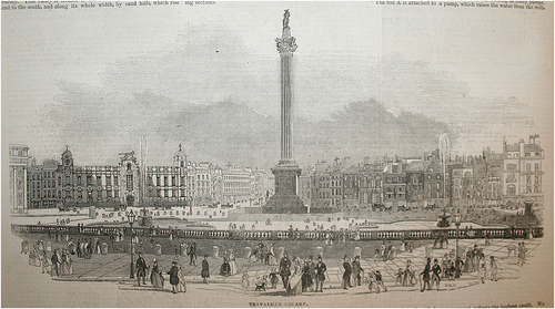 Trafalgar Square, 1845, from the London Illustrated News