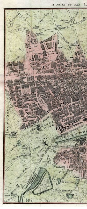 Berkeley Square in 1767, unknown engraver, Mapco