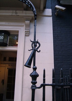 Link extinguisher at no.50 Berkeley Square