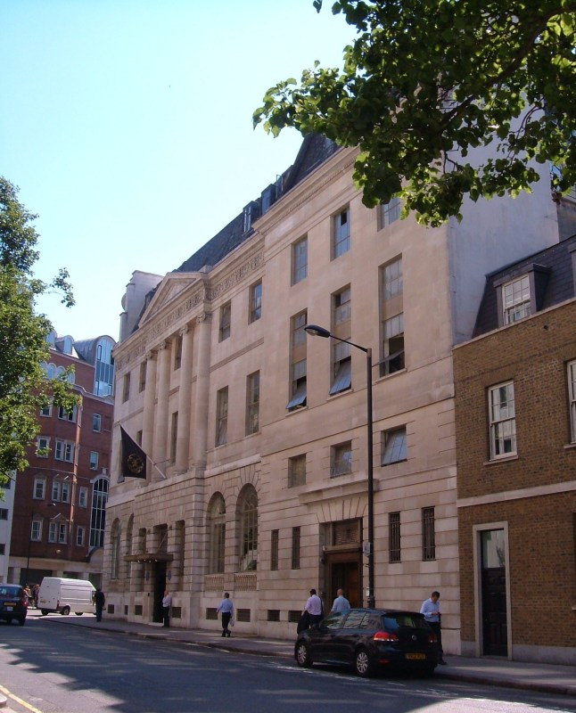 The original facade of Lansdowne House, replaced on a foreshortened building