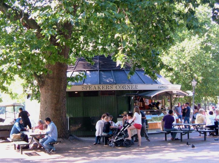 Speakers Corner Cafe in Hyde Park