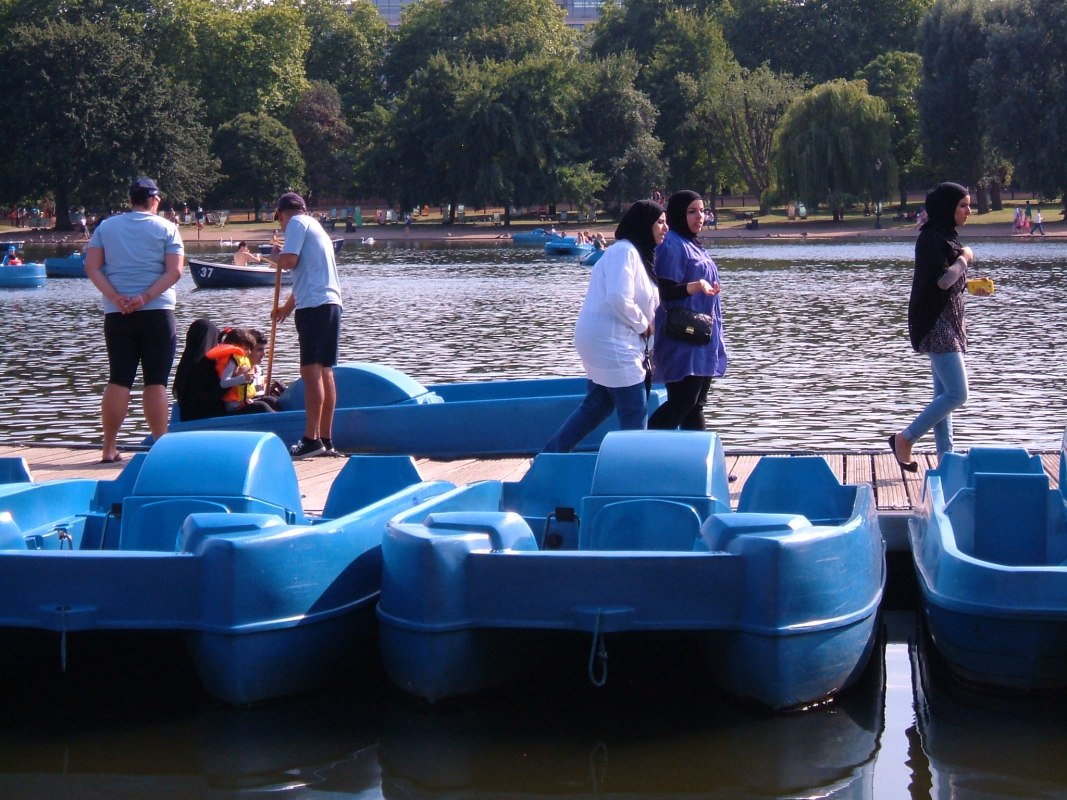 Pedaloes in the Serpentine