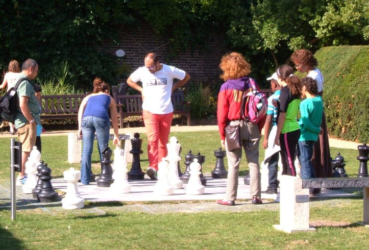 Playing chess (this is Kensington!)