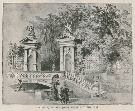 Holland House, Stone gateway by Inigo Jones