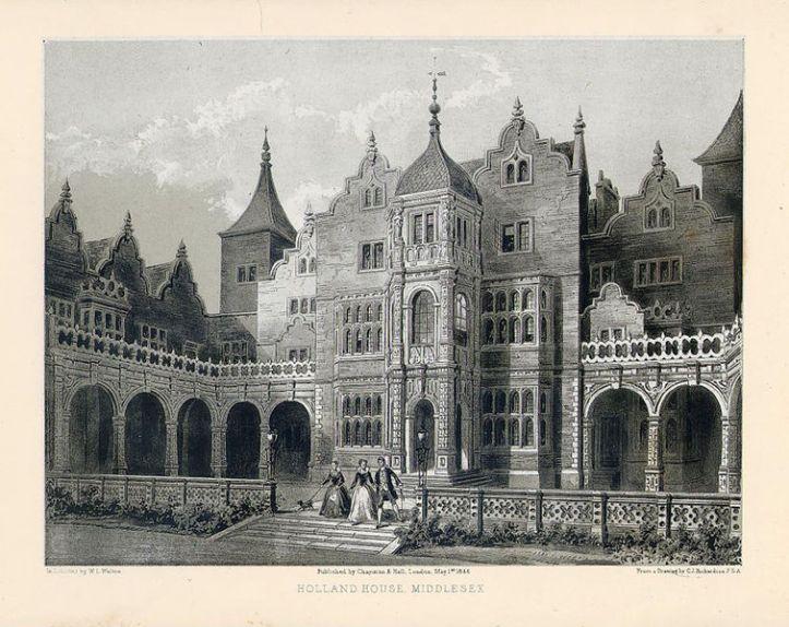 Holland House, 1847 (Wikimedia)