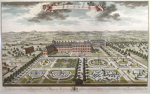 Kensington Palace, 1724, by Jan Kip