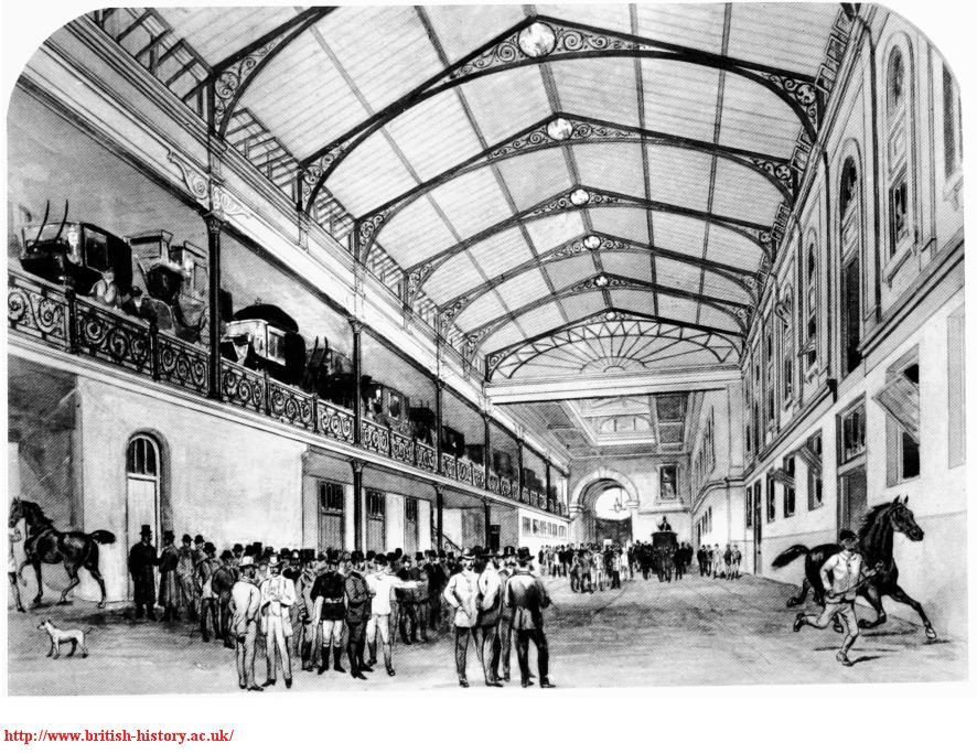 The interior of Aldridge's Horse Repository