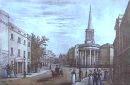 All Souls Langham Place, c.1830?