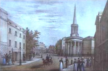 All Souls Langham Place, c.1830?