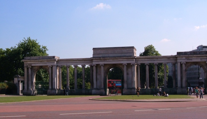 Archway at Hyde Park Corne