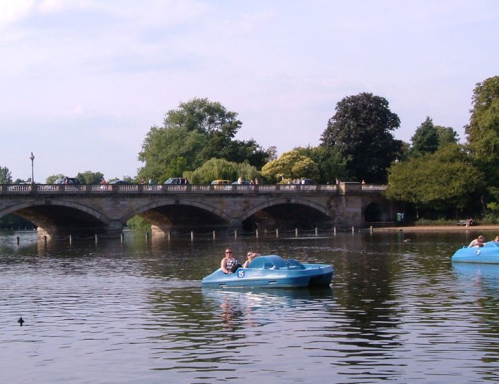 The Serpentine, with the 'neat stone bridge by Rennie, 1826'