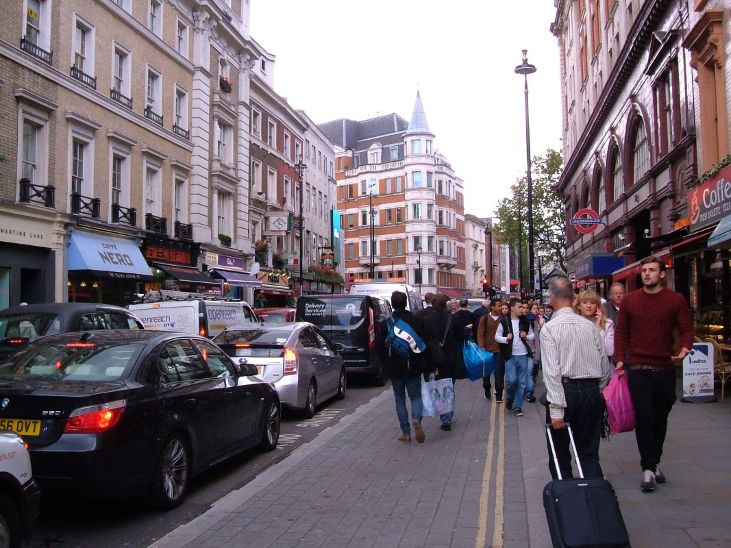 Cranbourne Street, looking towards Leicester Square