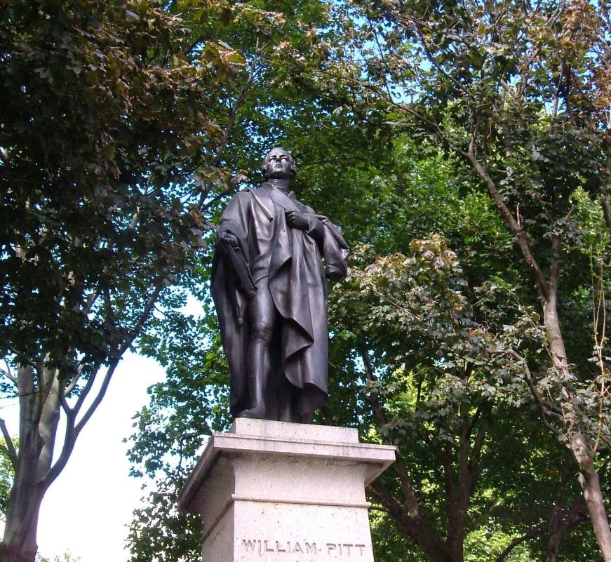Statue of William Pitt by Chantrey, 1831