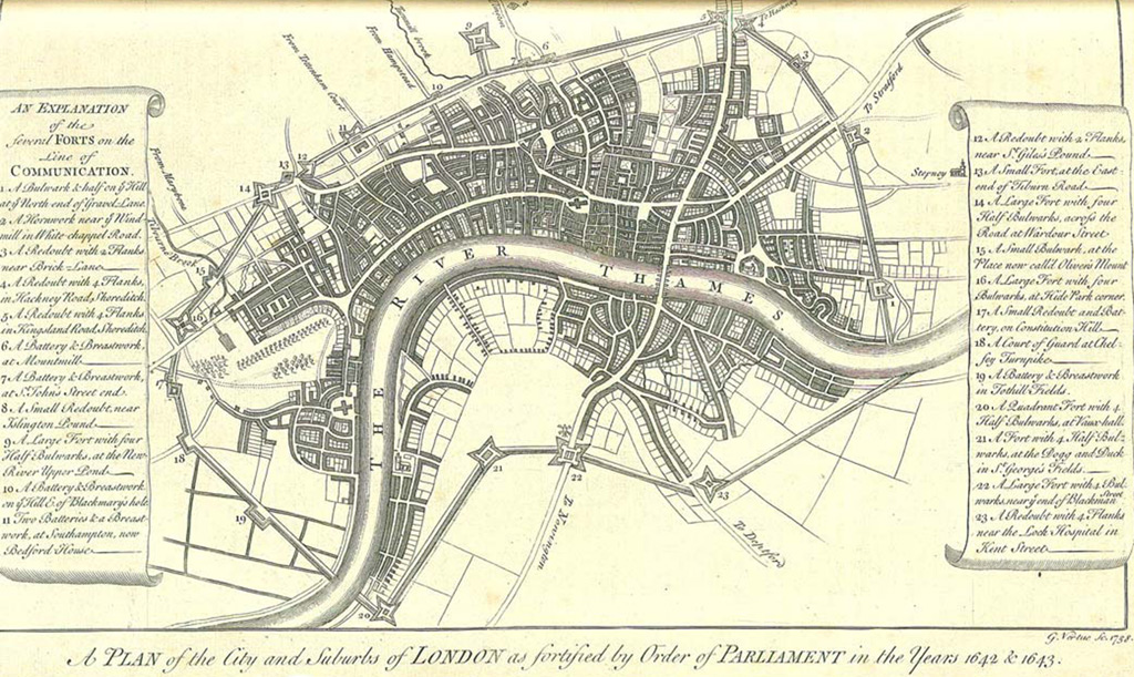 Fortifications of London, 1642