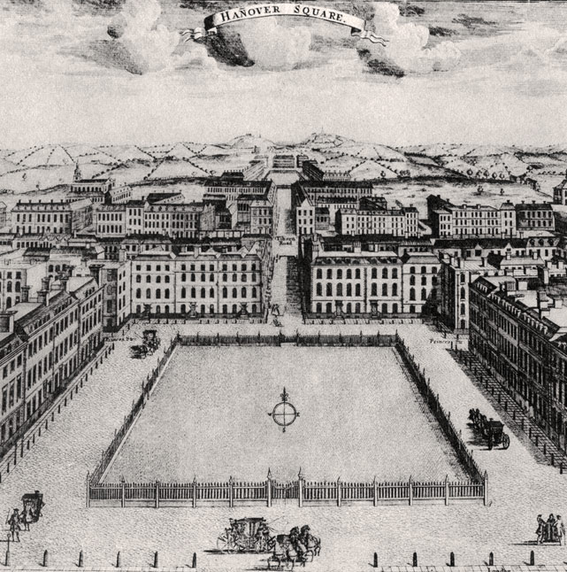 Hanover Square, shortly after it was built