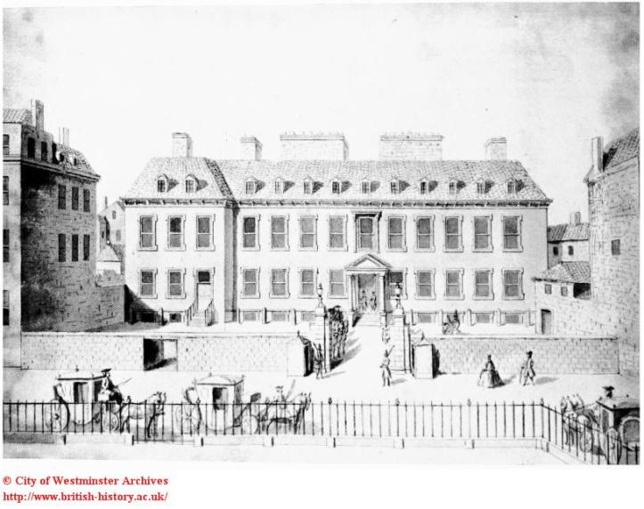 Leicester House, Leicester Square, 1748
