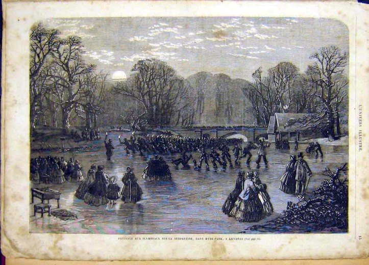 Skating in Hyde Park, 1895