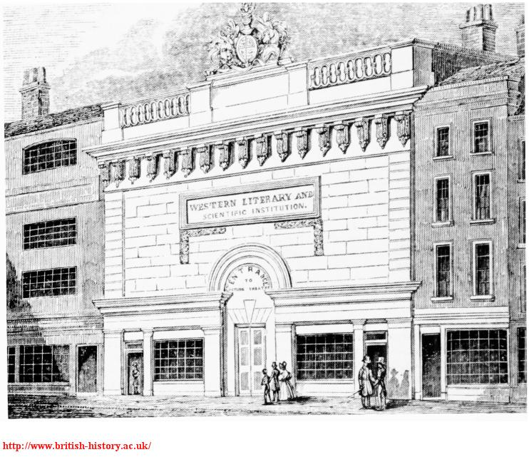 Western Literary and Scientific Institute, Whitcomb Street, 1839