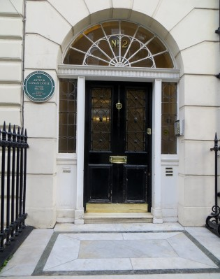 Sir Arthur Conan Doyle lived at no.2 Devonshire Place