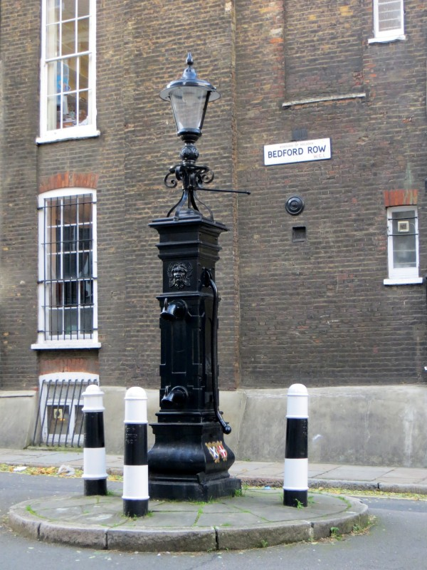 Lamp post  and pump? in Eagle Street