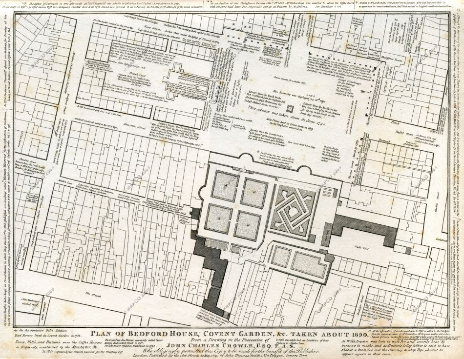 Bedford House & Covent Garden, 1690
