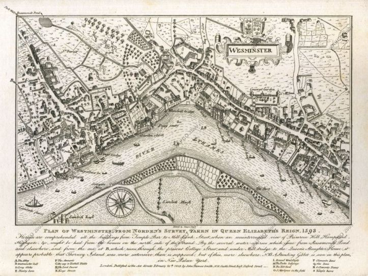 Convent Garden, 1593. (Drury House is on the right.)