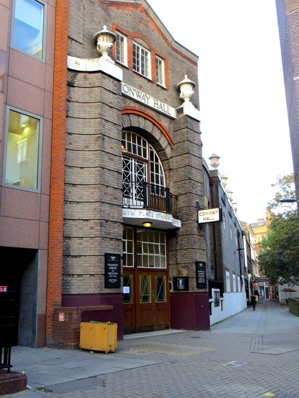 Conway Hall, with diagonal street