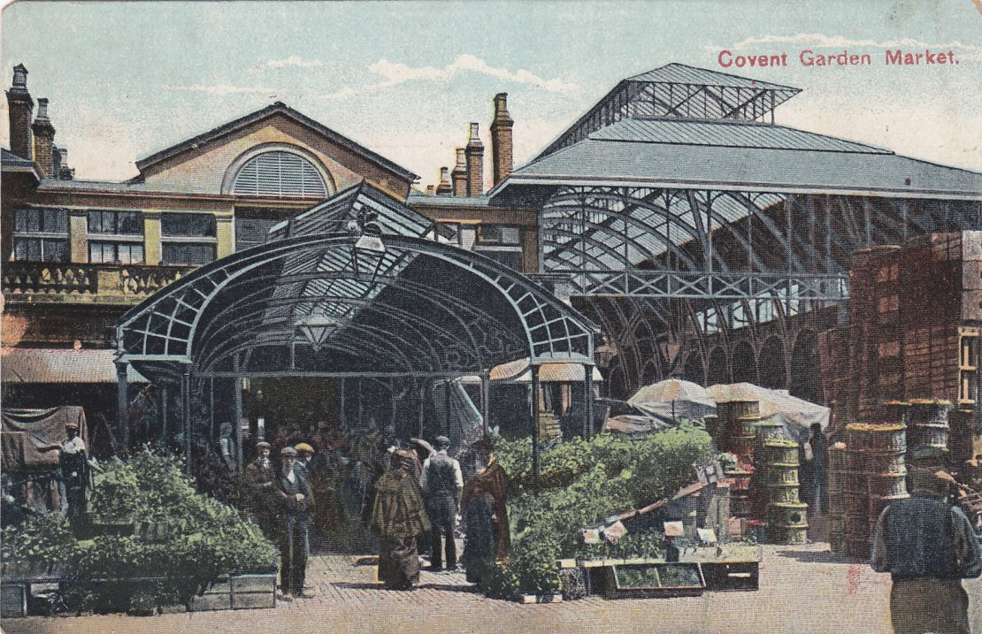 A postcard c.1910 of Covent Garden Market