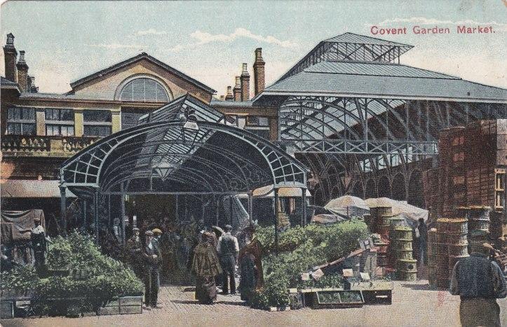 A postcard c.1910 of Covent Garden Market