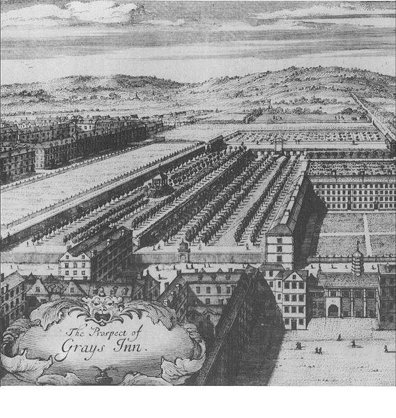 Gray's Inn, 1702, showing The Walks