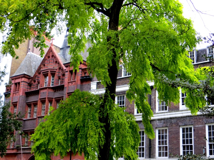 The French Protestant Church (left) & No.10 Soho Square