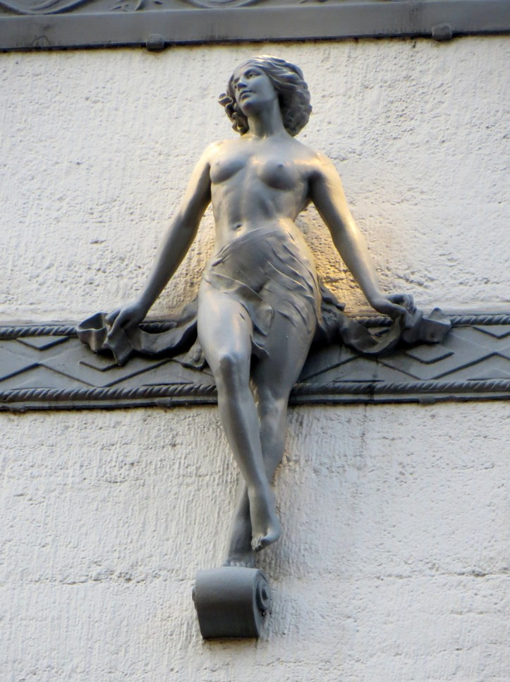 'Nude Girl' by Ernest Schaufelberg, the architect of the Fortune Theatre